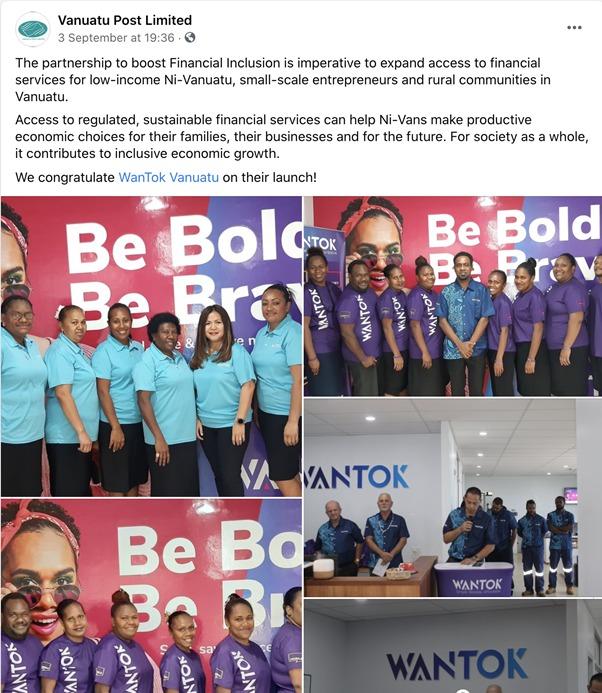 WanTok at Vanuatu Post Limited